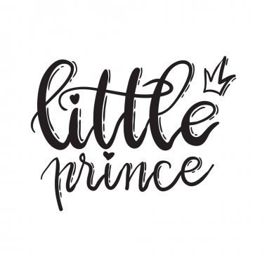 Lettering typography of Little prince