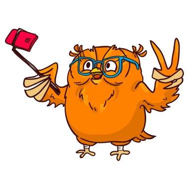 Pretty cartoon owl character