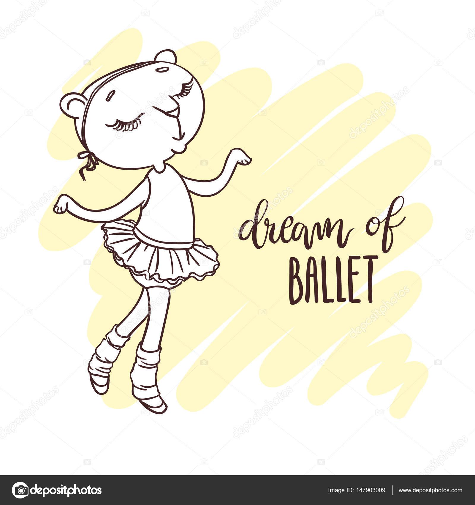 Tutú De Ballet Para Colorear Pequeña Linda Bailarina En Tutú