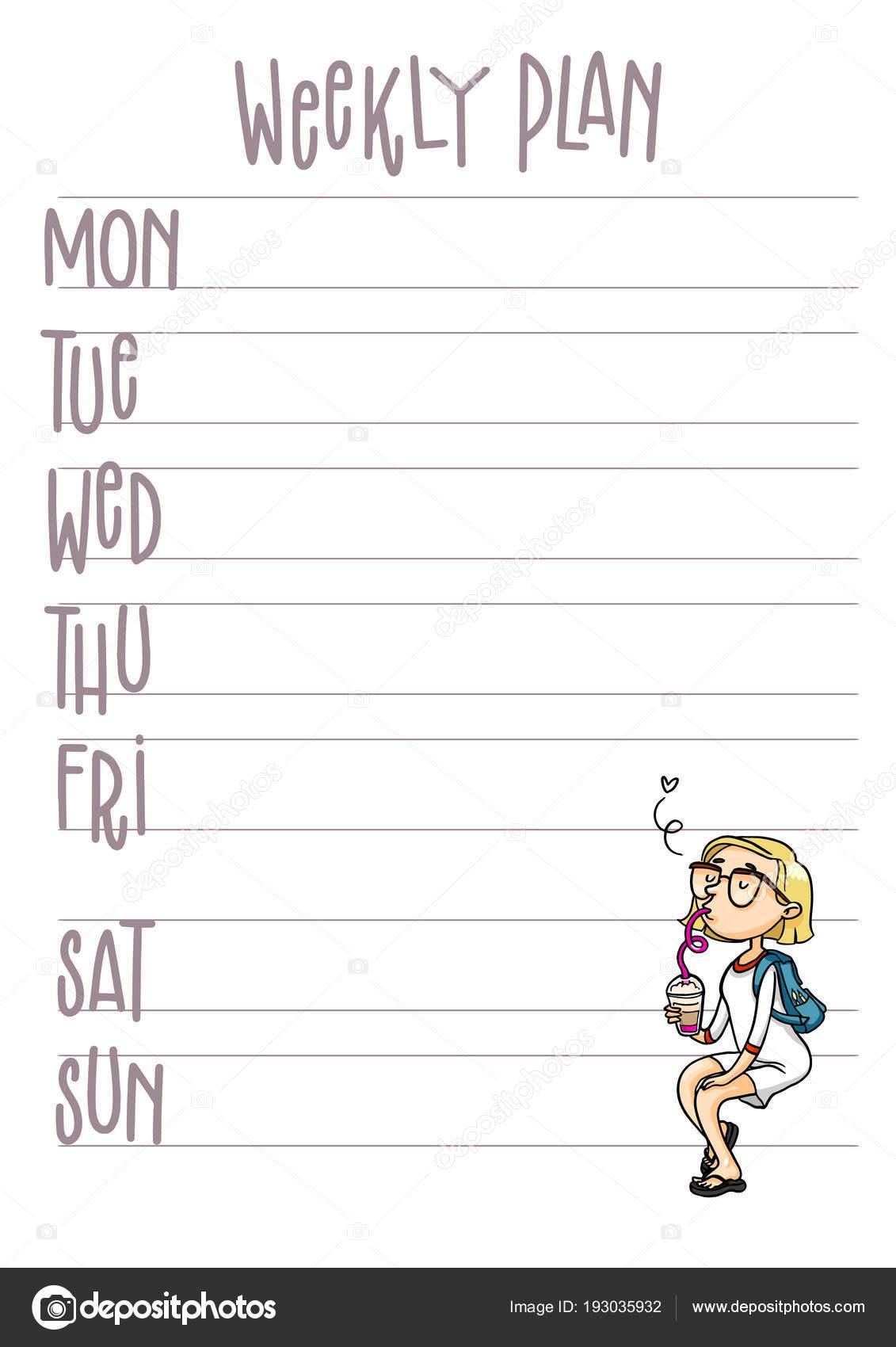 Wöchentliche Seite \