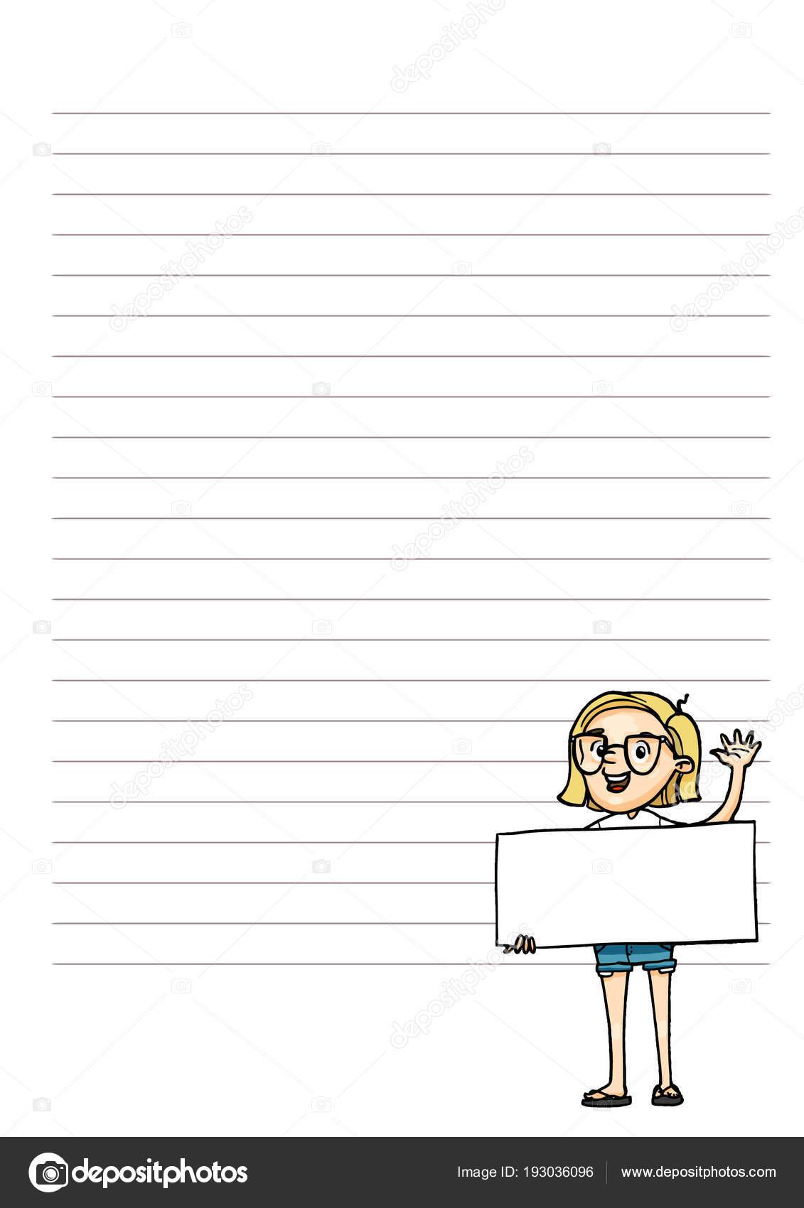 Seite für Notizen. Planer mit niedlichen Cartoon Charakter. Vektor ...