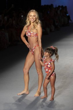 A model walks the runway for Poema Swim Summer collection 2020 fashion show during Paraiso Swim Week 2019 at Miami Beach in the Paraiso Runway Tent on July 14th, 2019