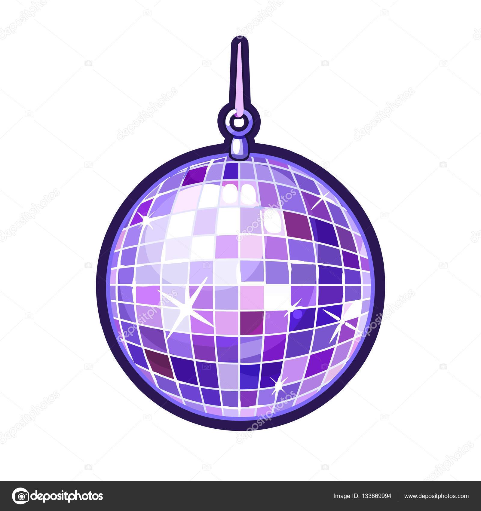 Ilustraciones de bola disco colores aisladas sobre fondo - Bola de discoteca de colores ...