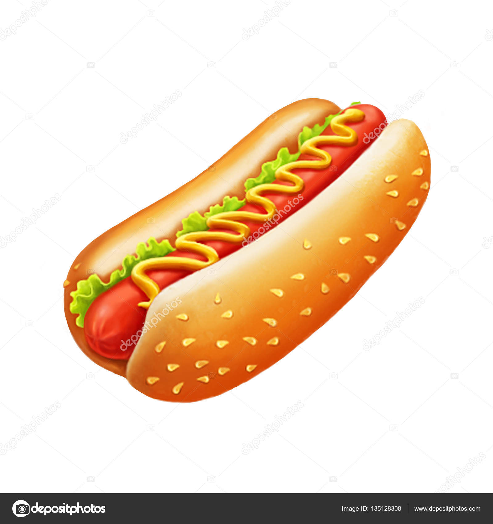 Picture Of A Hot Dog Cartoon