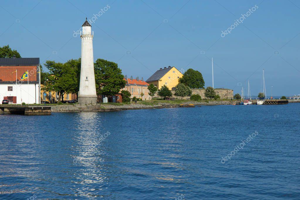 lighthouse in Karlskrona, Sweden