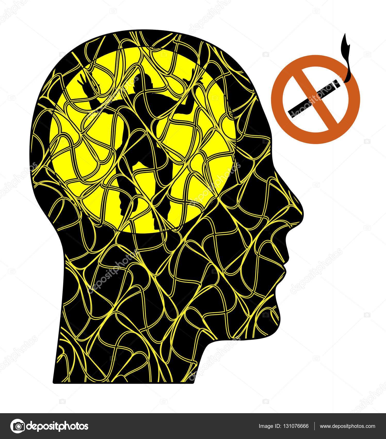 Sintomas de abstinência de nicotina — Stock Photo