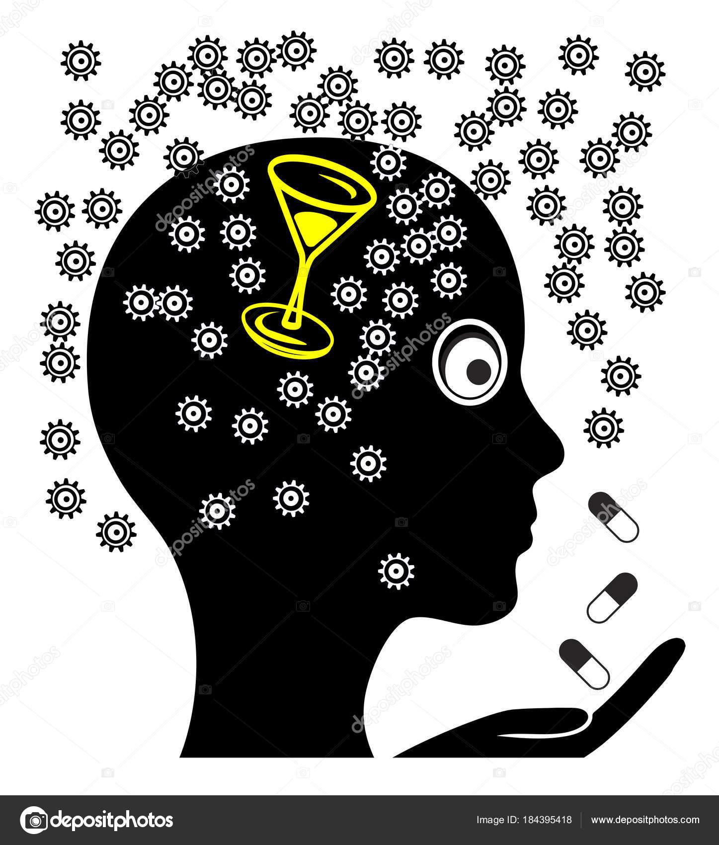 Женщина Принимая Таблетки Похмелье Лечение Головной Боли После ...