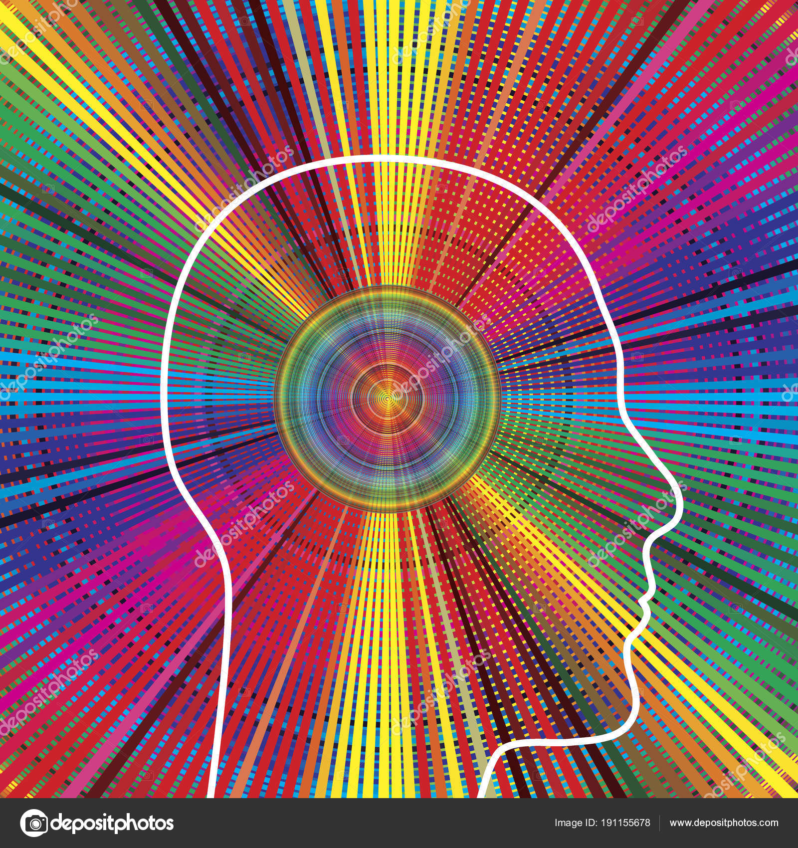 Gesetz Der Anziehung Starker Persönlichkeit Strahlt Positive Energie ...