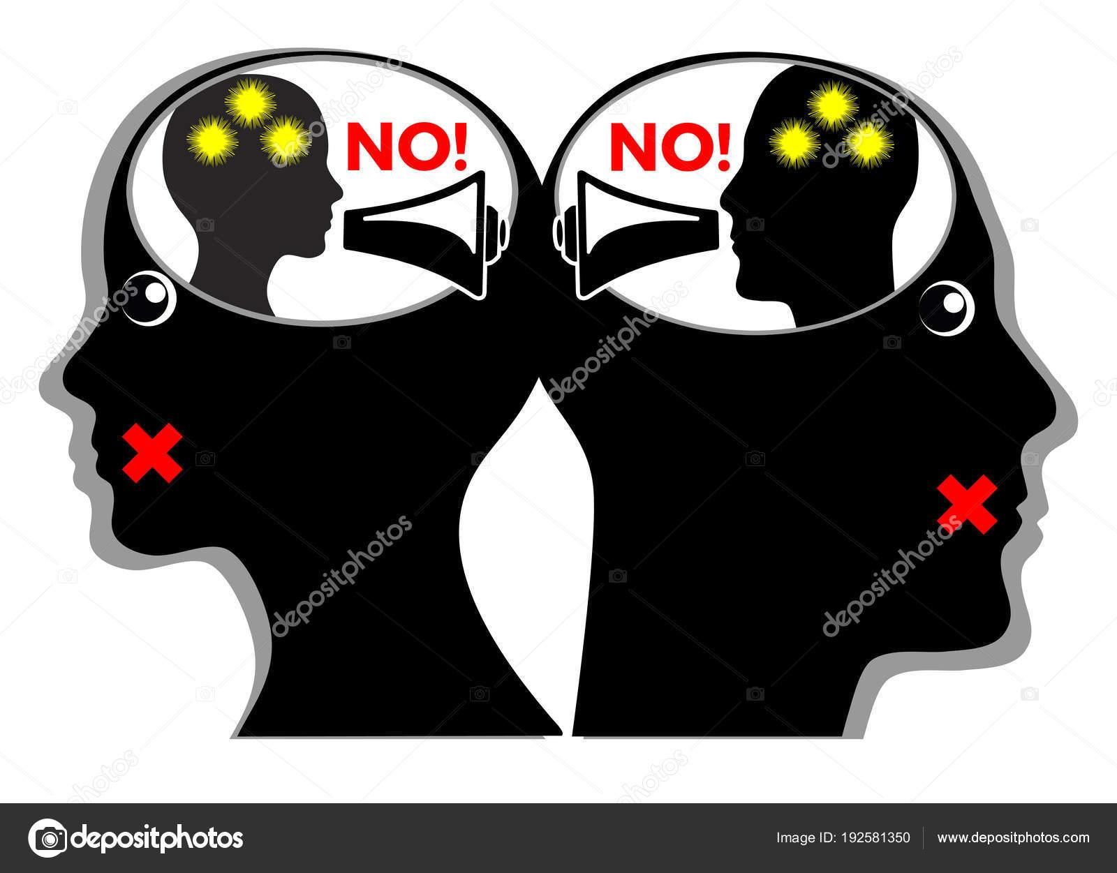 Silent Killer Relationship Angry Couple Quarrels Inner