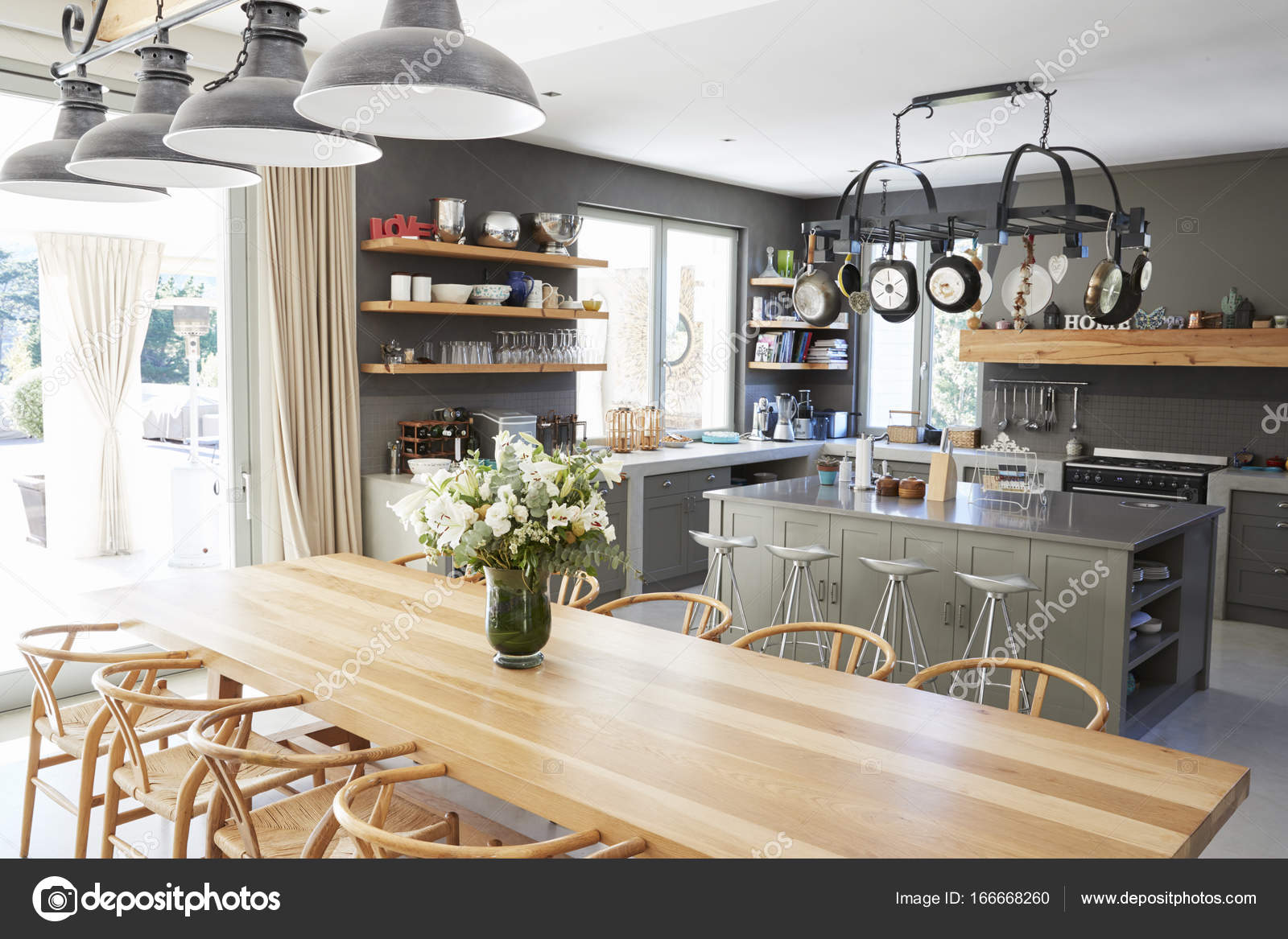 Exceptionnel Intérieur De La Maison Avec Cuisine Ouverte Et Salle à Manger U2014 Image De ...