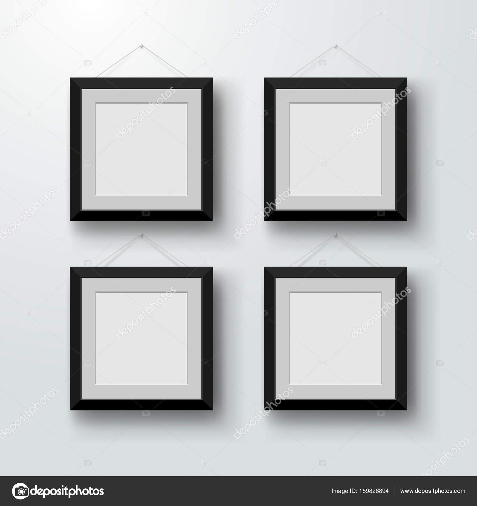 Leere Bilderrahmen an der Wand. Design für ein modernes Interieur ...