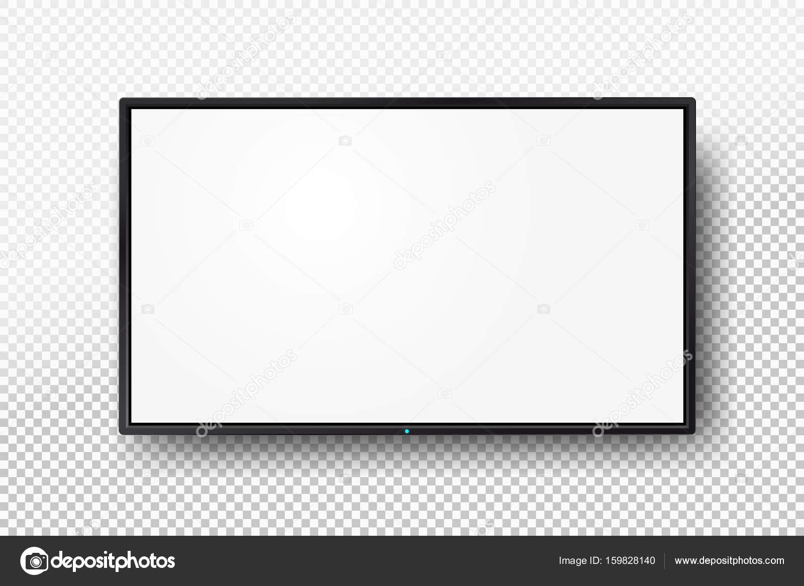 Eine leere Fernsehen-Vorlage mit einem weißen Schirm oder ein ...