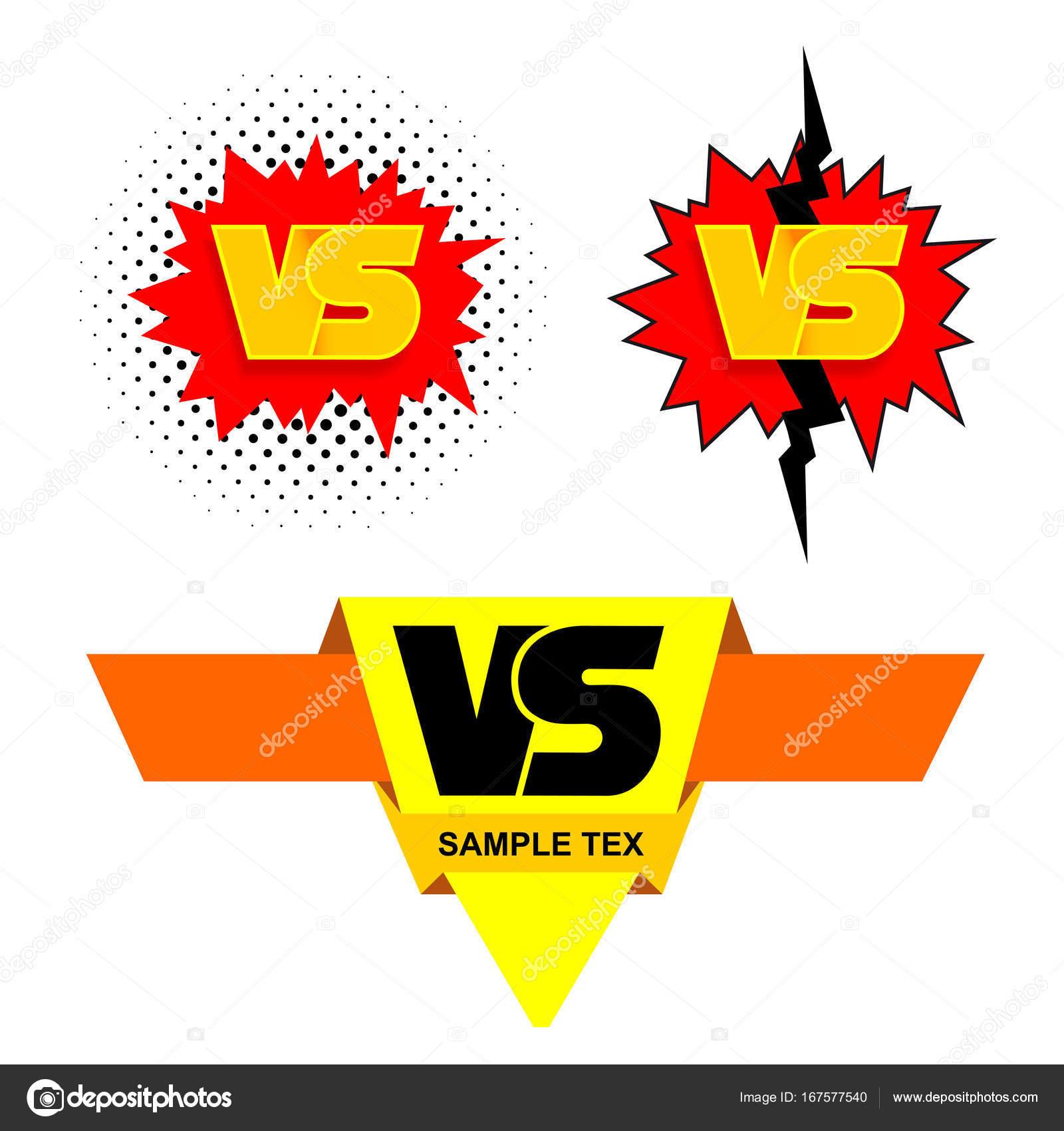 Set of symbol competition vs versus text brush painting letters set of symbol competition vs versus text brush painting letters freehand drawing vector buycottarizona