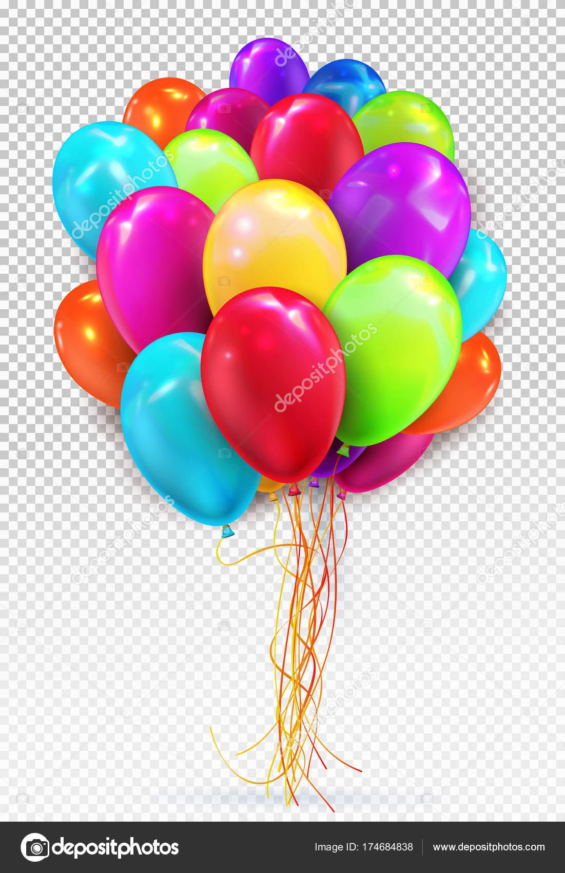 Heliumballon Festgelegten Farben Geburtstag Ballons Rot Gelb Grun