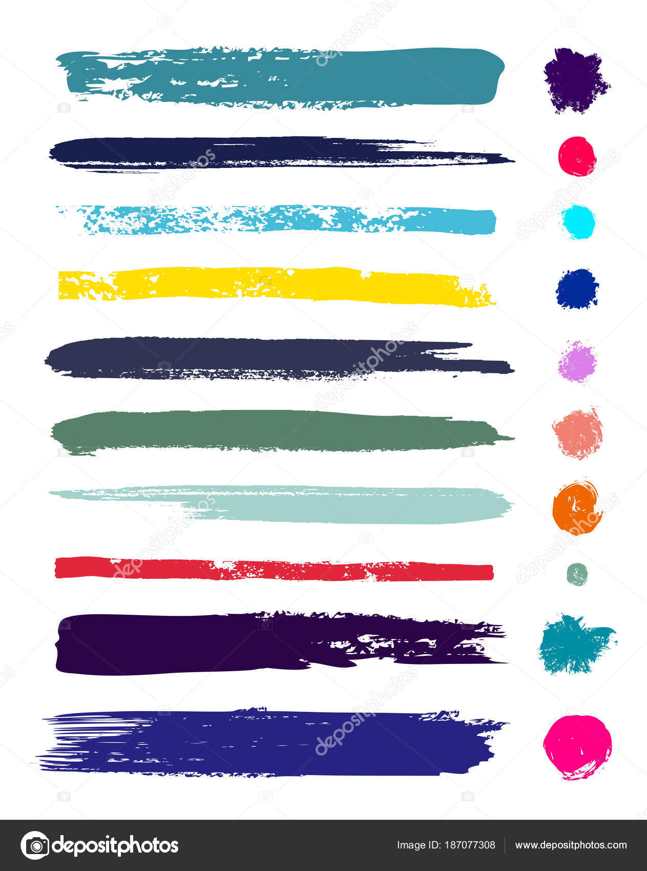 8bb602ea43f1 Set of brush strokes backgrounds. Paint line grunge collection ...
