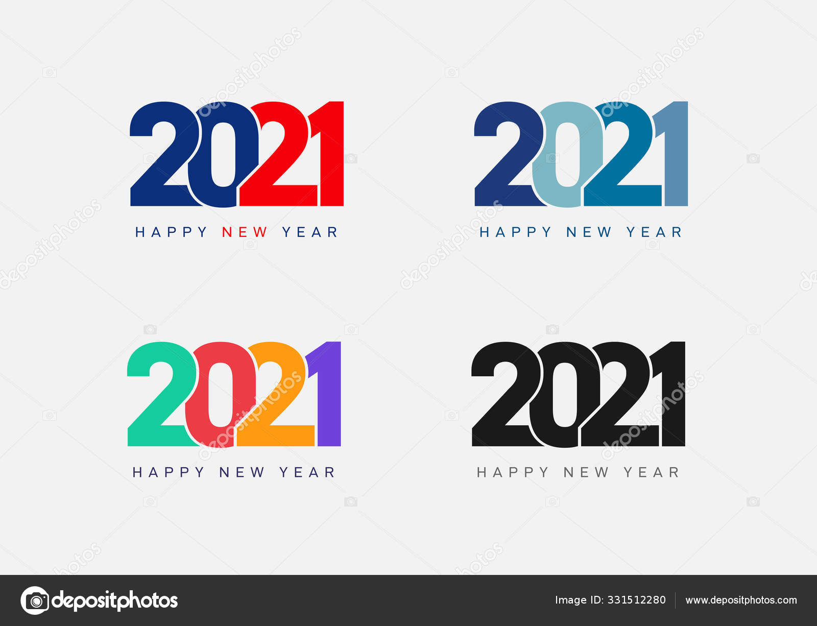 Happy New Year 2021 Stock Vectors Royalty Free Happy New Year 2021 Illustrations Depositphotos