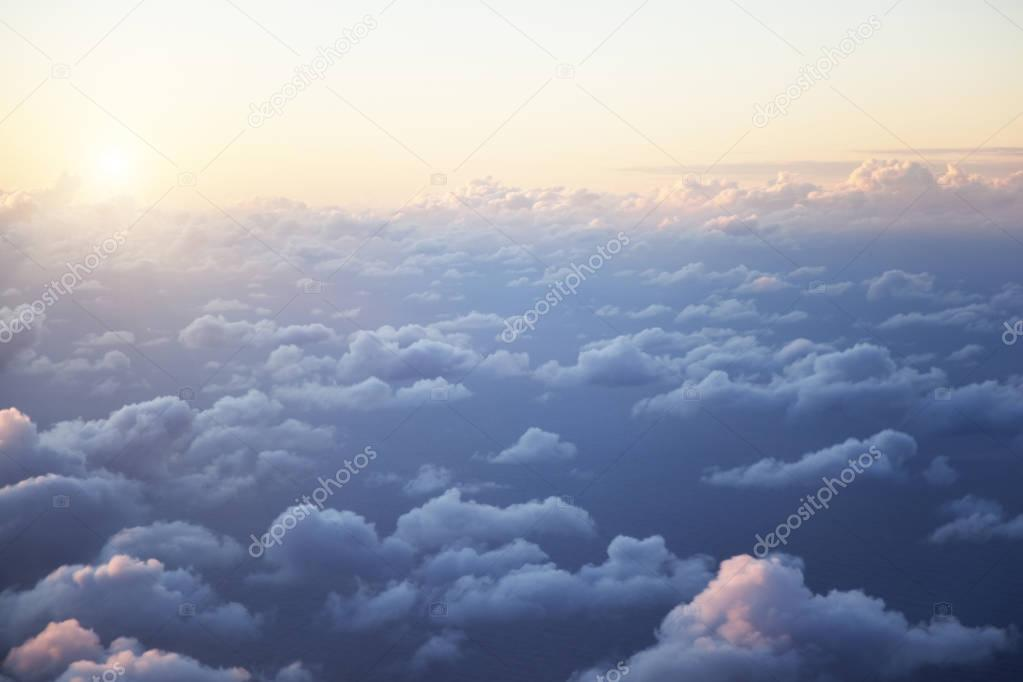 clouds, from the window of airplane