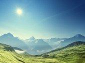 hor. krajina, první Grindelwald, Švýcarsko