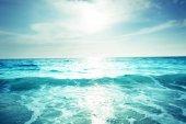 Seychelle-szigeteki strand napnyugta időpontja, tilt-shift hatása