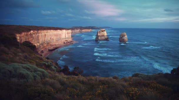 Twelve Apostles, after sunset, Australia