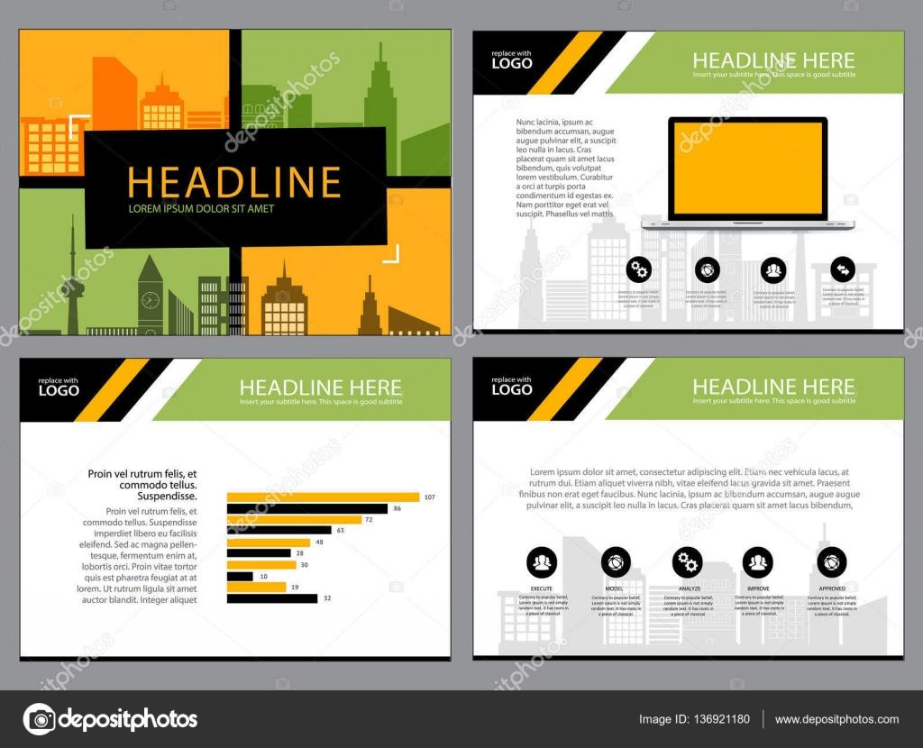 Plantilla de diseño de diseño de página de presentación y folleto ...