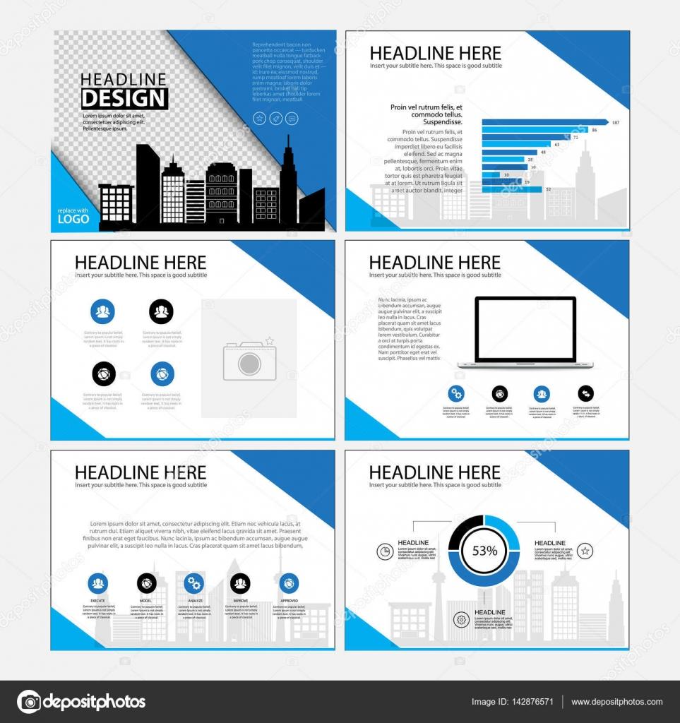 Seite-Layout-Design-Vorlage für Präsentation und Broschüre ...