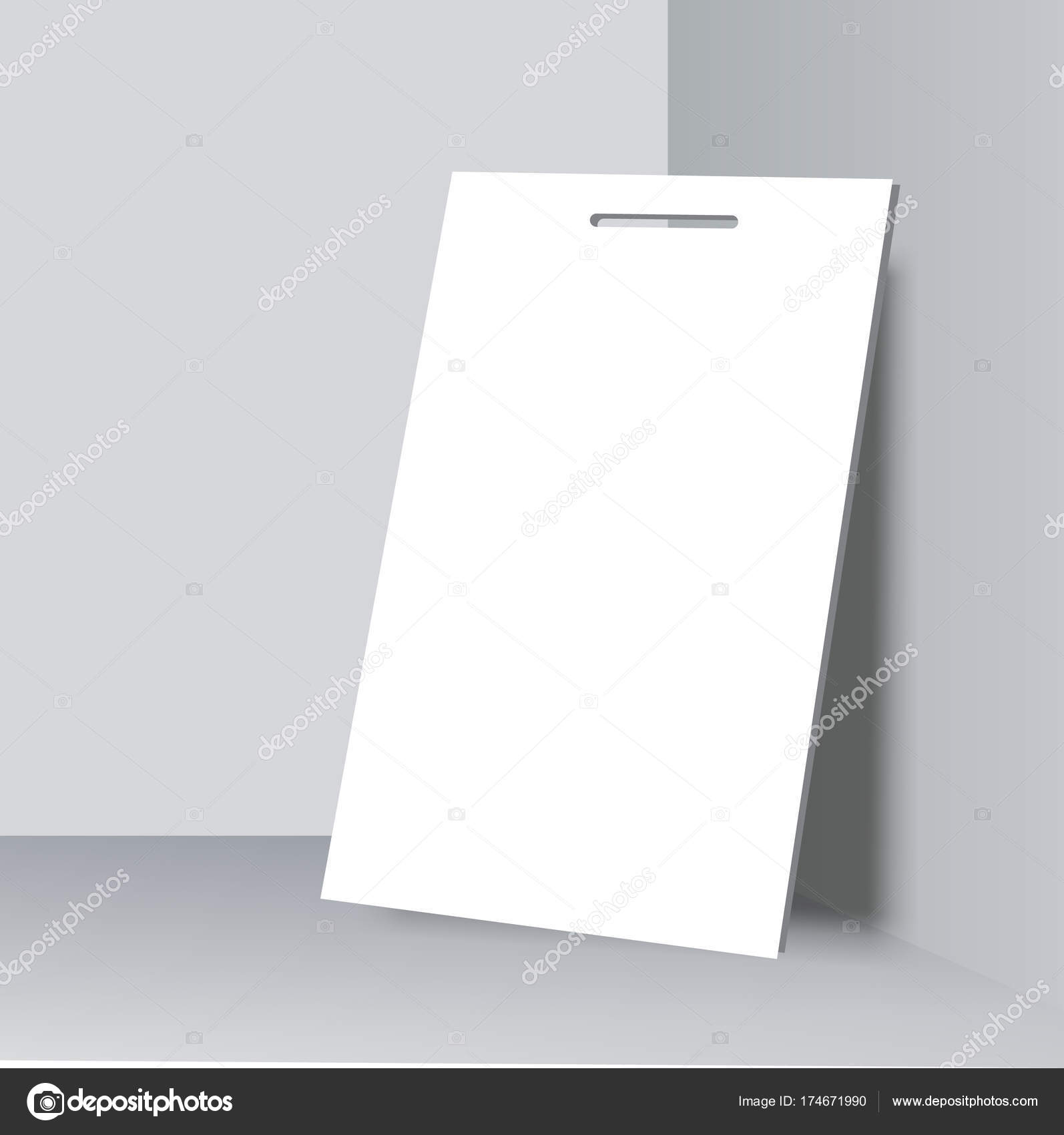 blank name tags mockup vector illustration of identity card badge