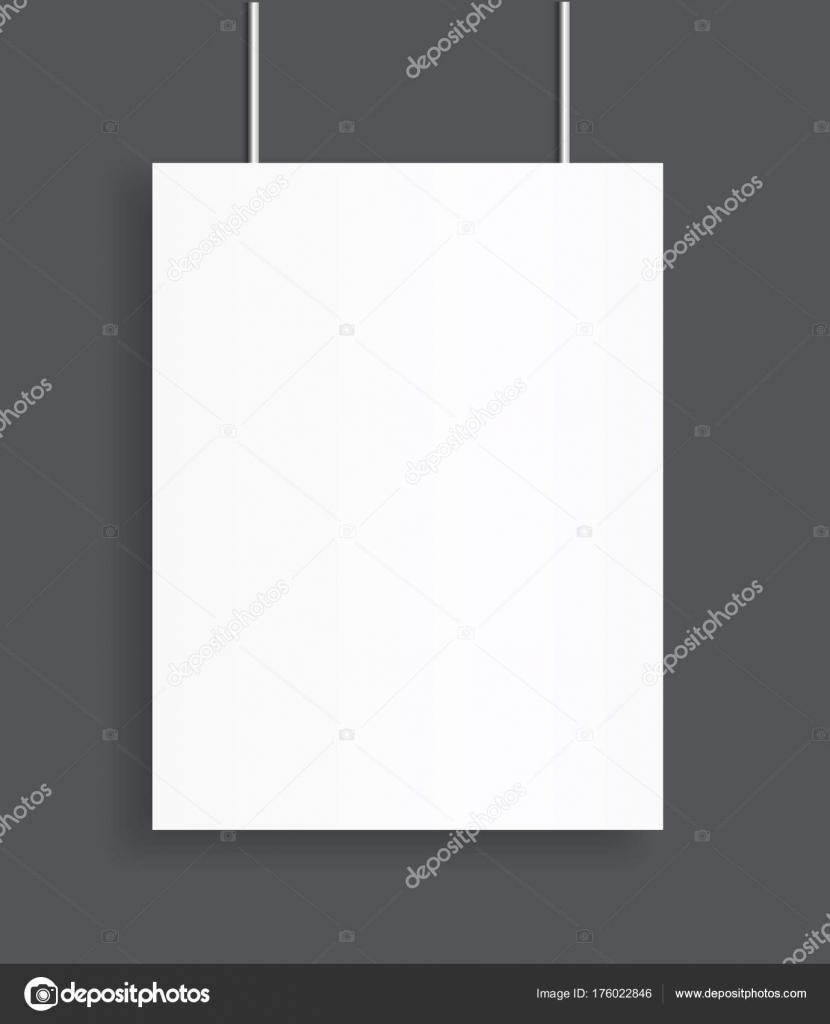 Blank Poster Bi Fold Brochure Mockup Cover Template Stock Vector - Brochure blank template