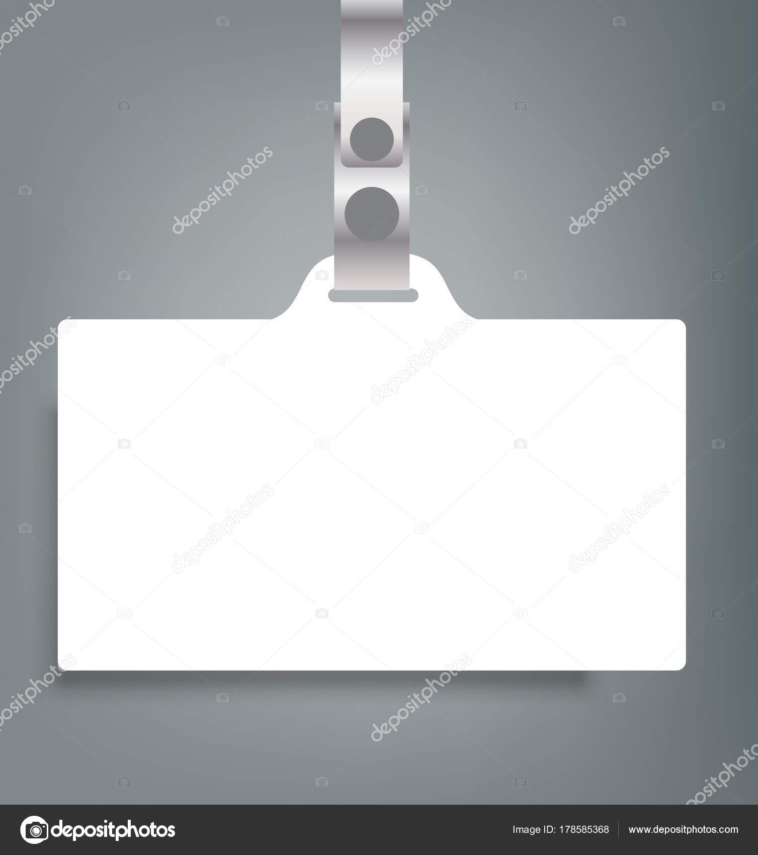 Leere Namen Tags Mockup. Vector Illustration der Personalausweis ...