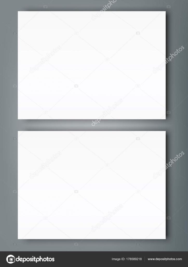 Poster Blank Bi Fold Brochure Mockup Cover Template Stock Vector - Brochure mockup template