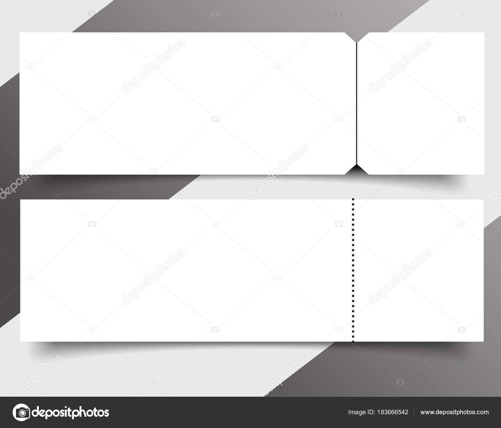 Set of Blank event concert ticket mockup template. Concert, party ...