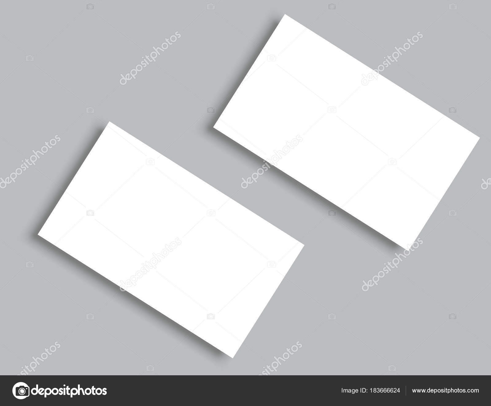 business card blank with shadow mockup cover template stock vector