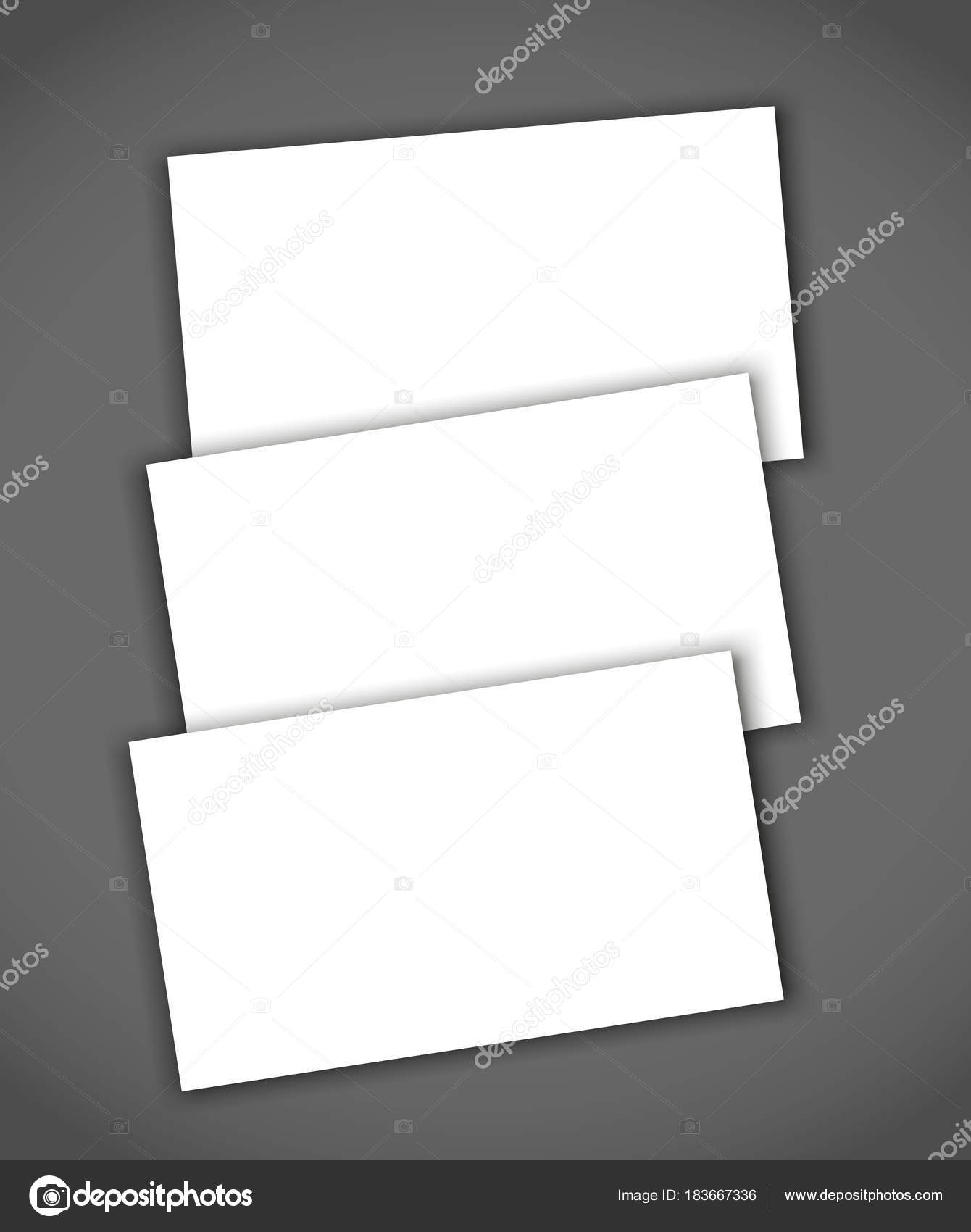 Set of business card blank with shadow mockup cover template stock set of business card blank with shadow mockup cover template stock vector reheart Images