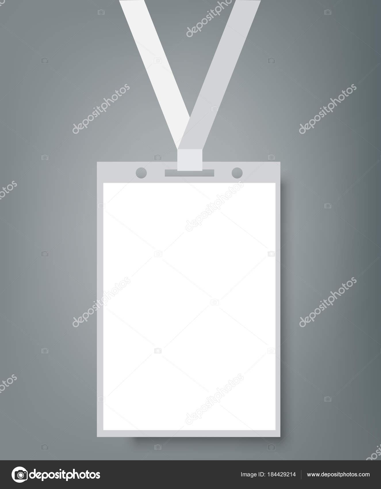 Blank Name Tags Mockup. Vector Illustration of Identity Card Badge ...