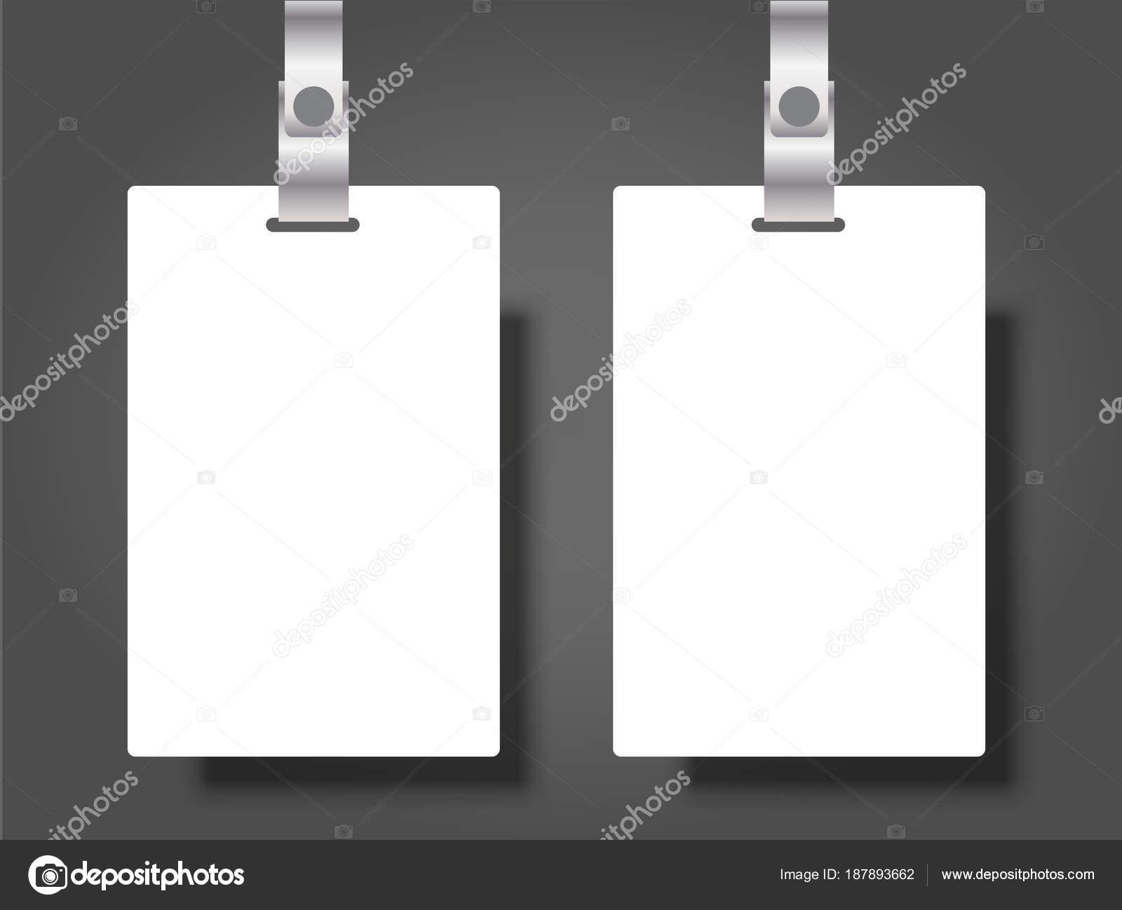 Zwei leere Namen Tags Mockup. Vector Illustration der ...