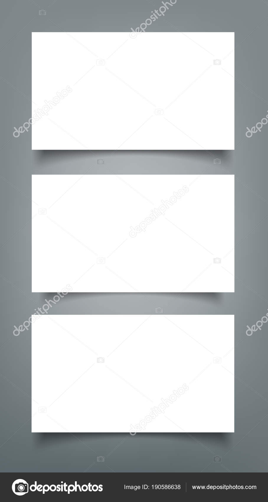 Set of business card blank with shadow mockup cover template stock set of business card blank with shadow mockup cover template stock vector friedricerecipe Gallery