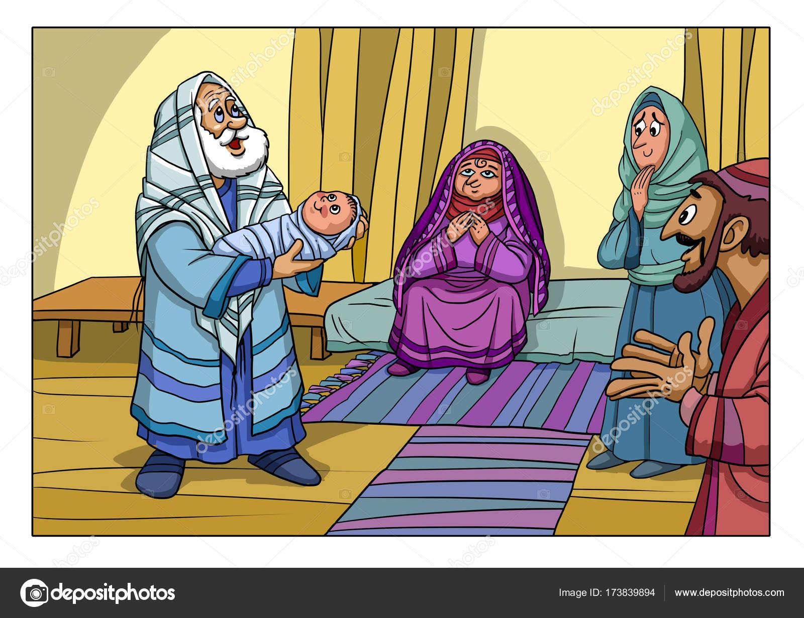 Historia de la Navidad. Zacarías y Elizabeth dio a luz a un hijo en ...