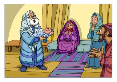 Chrismas story. Zechariah and Elizabeth gave birth to a Son in their old age.