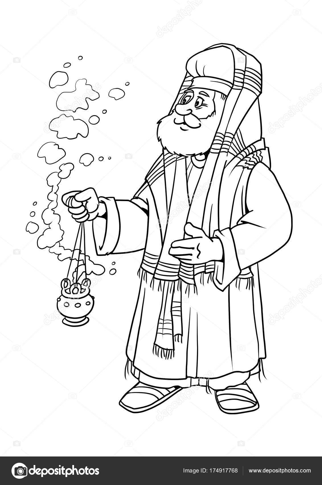 Imágenes Sacerdotes Animados Para Colorear Historia De La Navidad