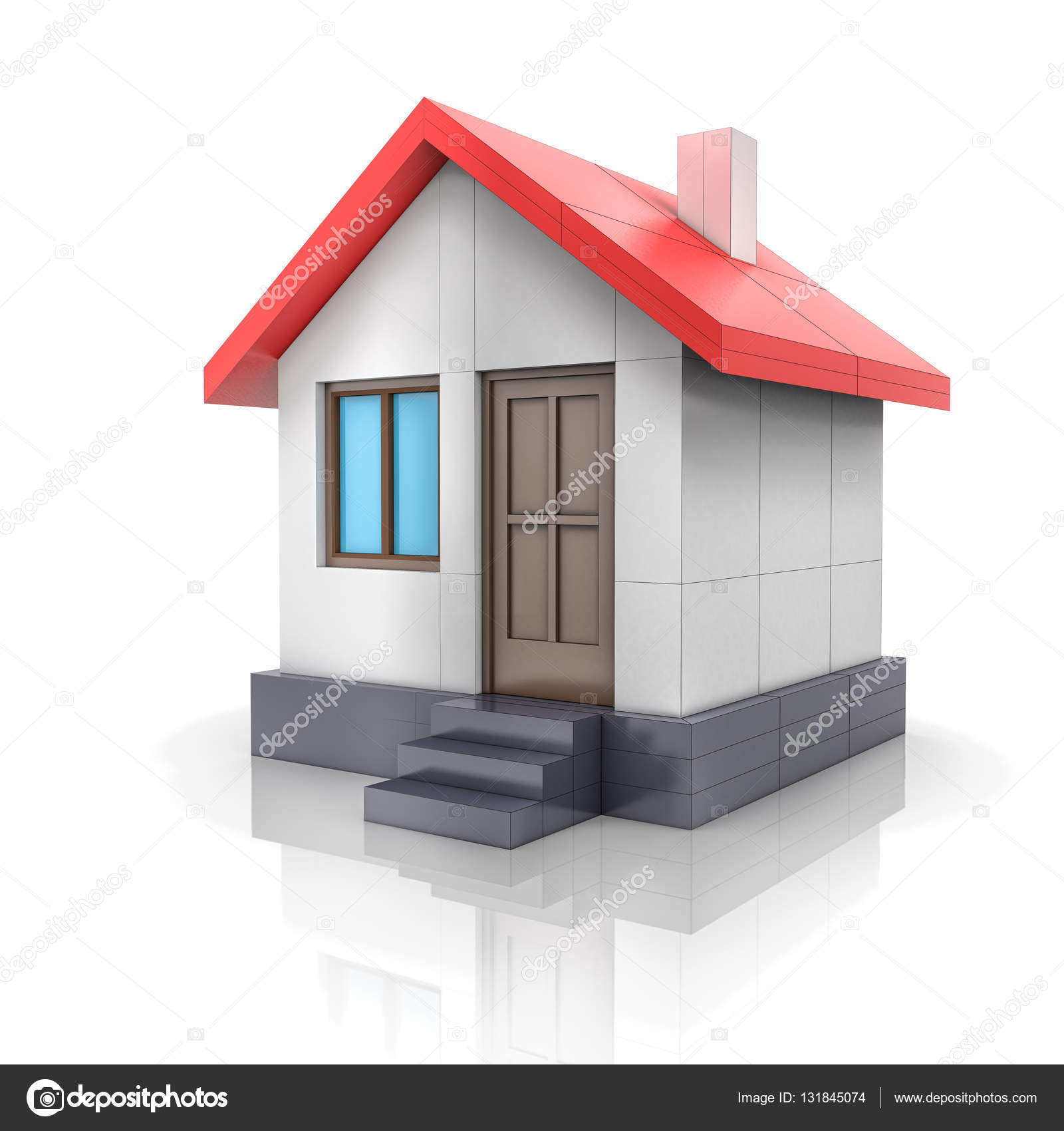 Progetto di casa disegno si trasforma in modello 3d foto stock cherezoff 131845074 - Disegno progetto casa ...