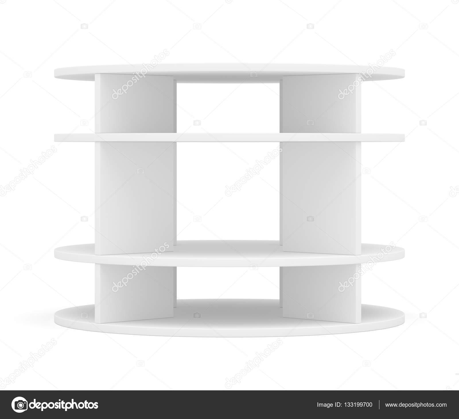 Runde Regale leere runde regal für ausstellung stockfoto cherezoff 133199700