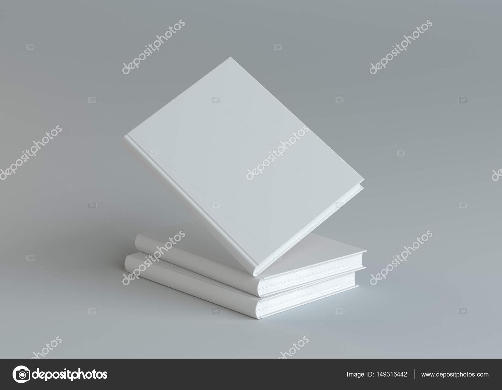 Leere Bücher Vorlage auf grauem Hintergrund — Stockfoto © cherezoff ...
