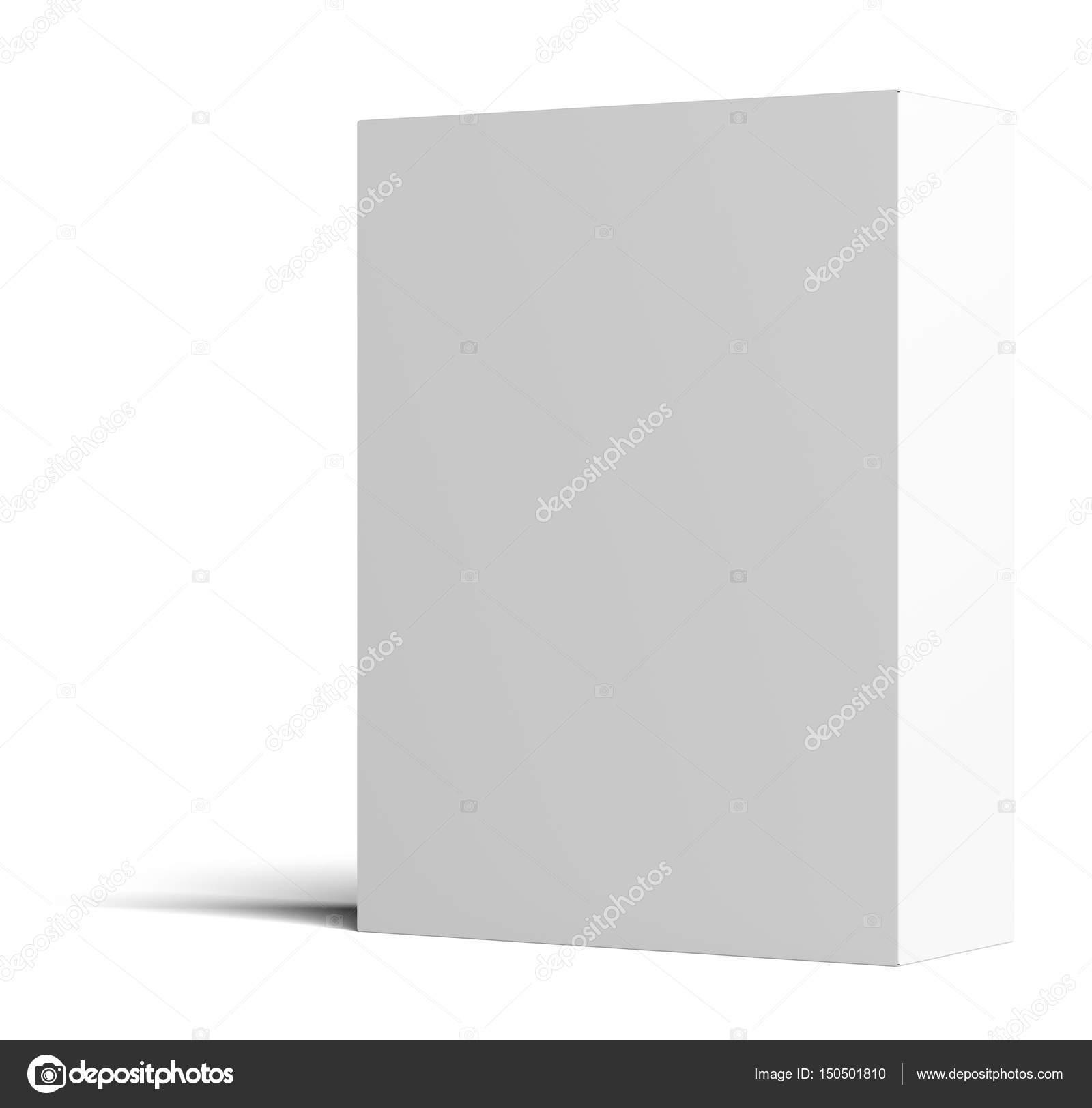 Una caja de cartón vacía blanco está parado media vuelta — Foto de ...