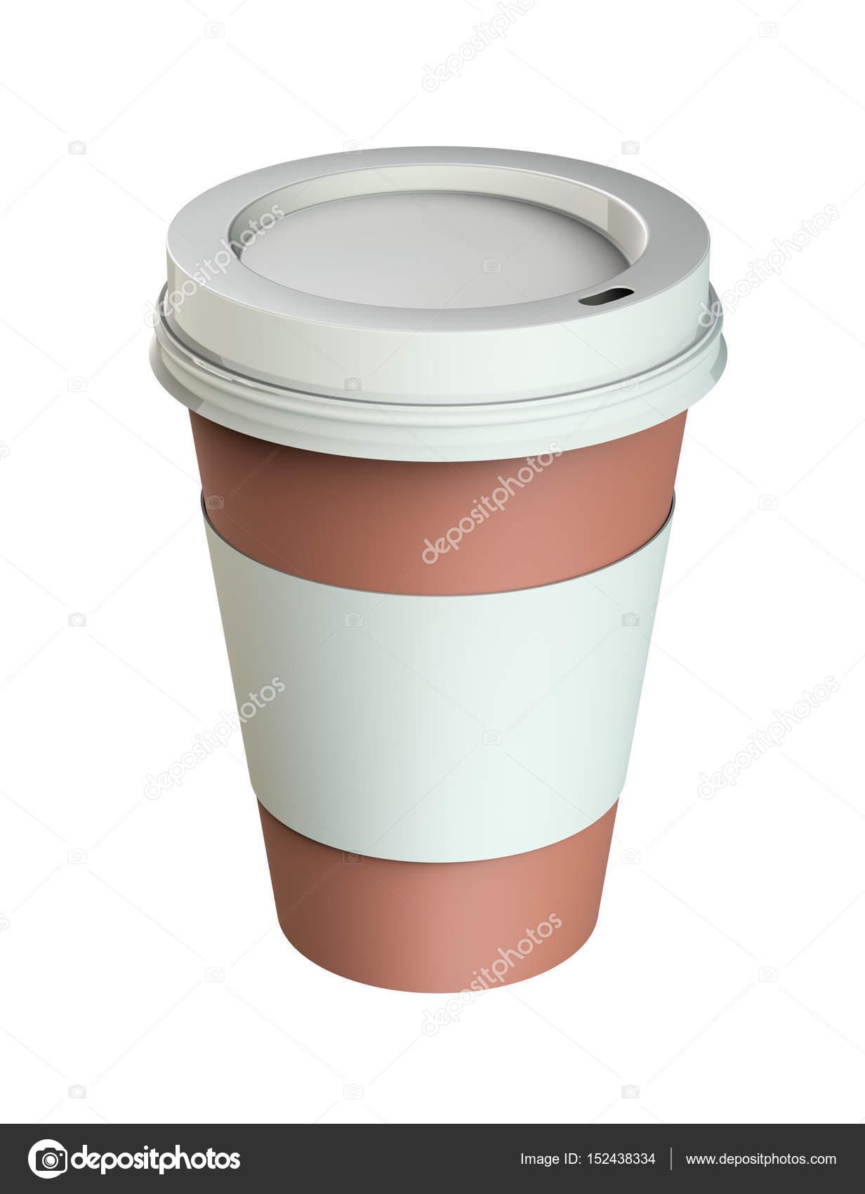 Plastik Kaffee Tasse Vorlagen, isoliert — Stockfoto © cherezoff ...