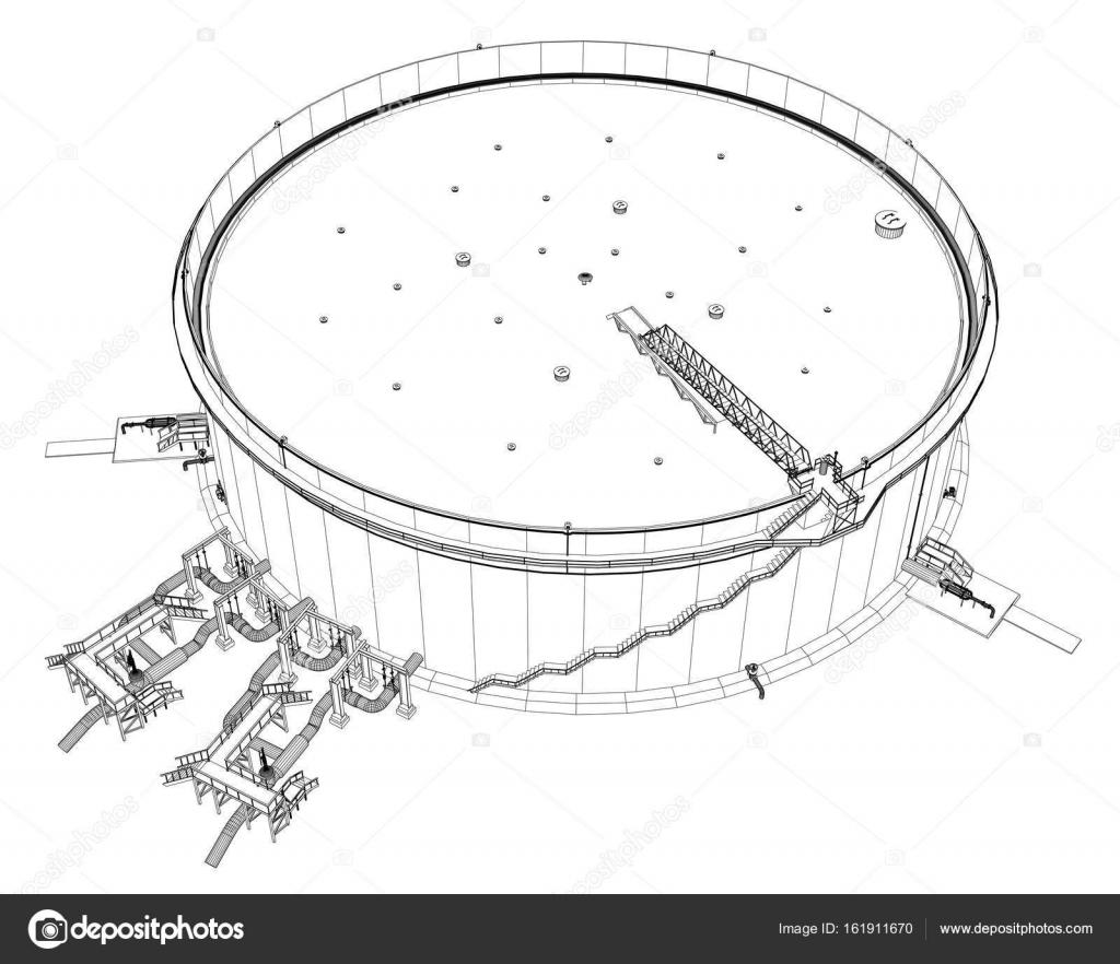 Tanque de aceite de marco de alambre — Vector de stock © cherezoff ...