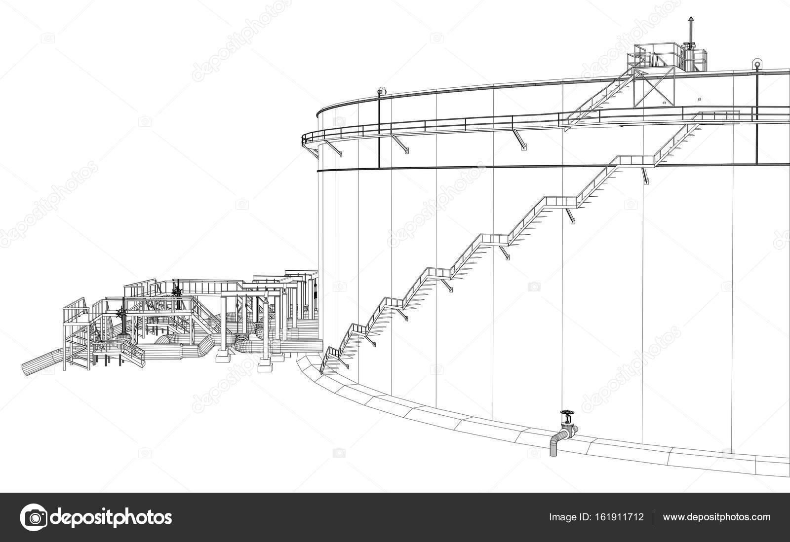 Tanque de aceite de marco de alambre — Archivo Imágenes Vectoriales ...