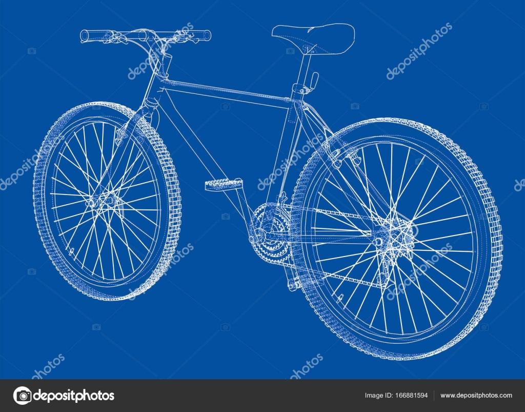 Bicicleta. Estilo de marco de alambre. Vector de — Vector de stock ...