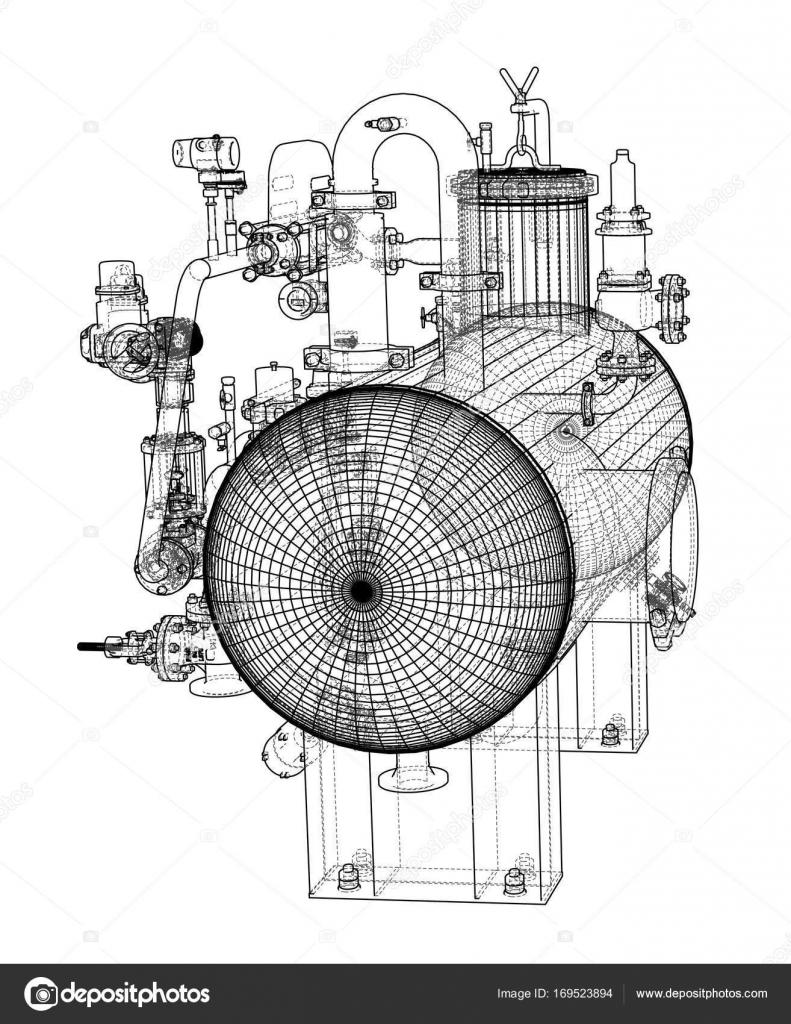 Sketch industrial equipment — Stock Vector © cherezoff #169523894