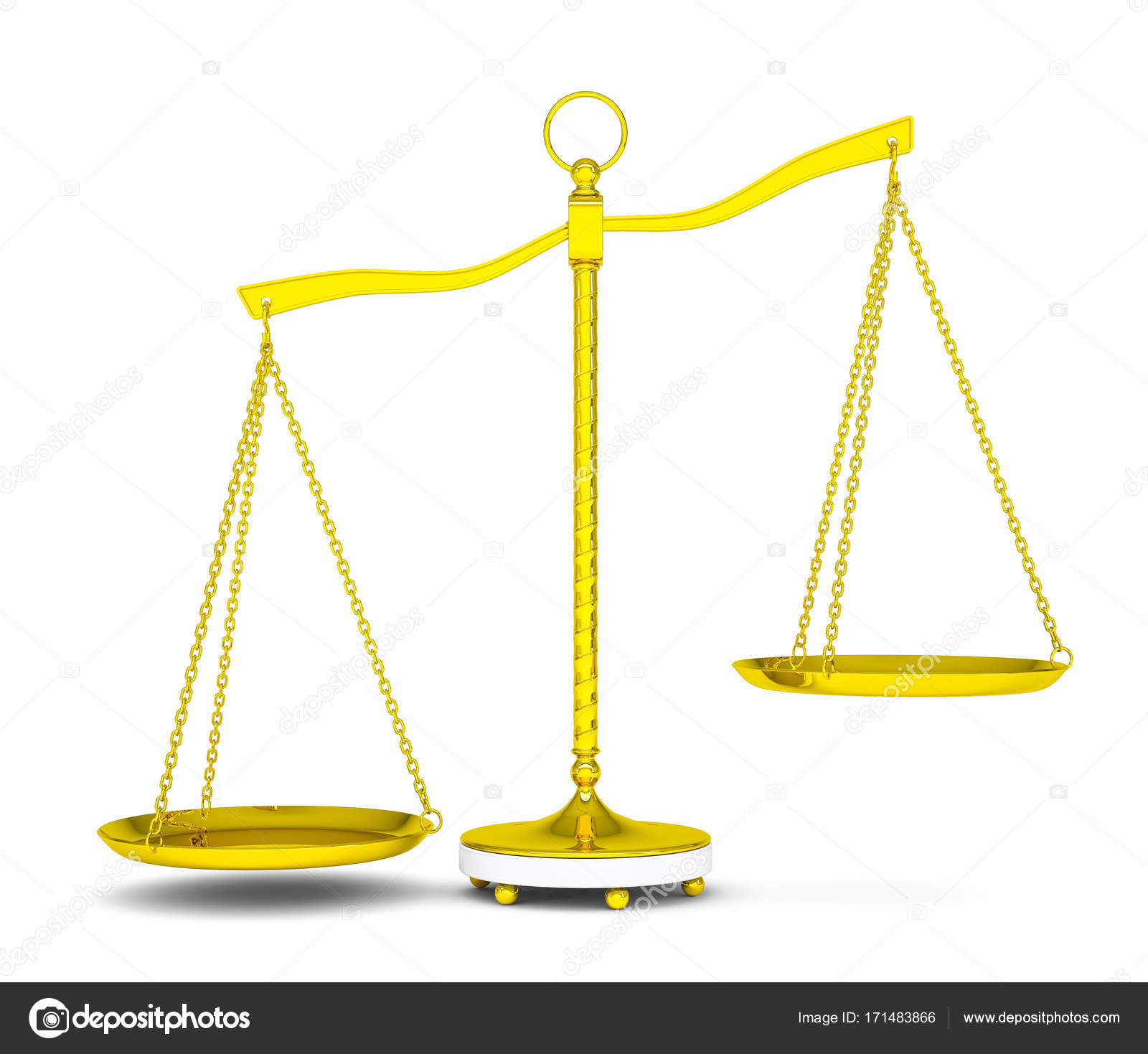 Balance scale over white background — Stock Photo © cherezoff ...