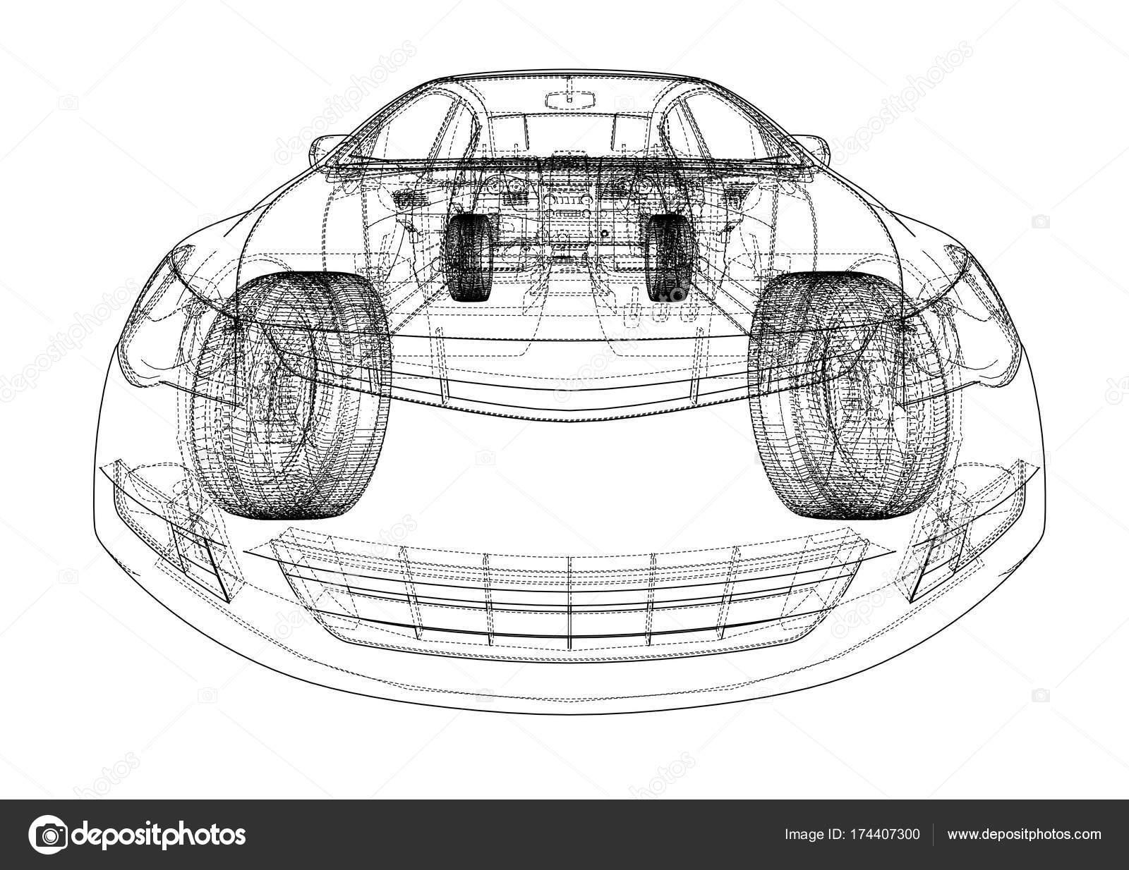 Auto-Skizze. Vektor — Stockvektor © cherezoff #174407300